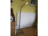 Modern gilt standard lamp