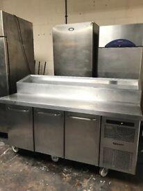 Gram pizza topping fridge, commercial preparation fridge, catering
