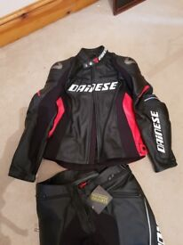 Dainese Racing D1 Jacket (Size 50) - Free G1 Back Protector (£50)