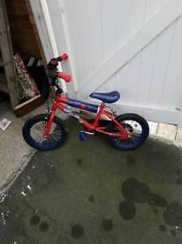 Child's spiderman bike