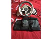 Xbox steering wheels and pedals