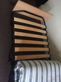 Single - Folding Cot with bed with wheel
