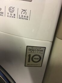 LG DIRECT DRIVE 8KG WASHING MACHINE WHITE