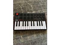 Akai MPK mini keyboard and pad controller - as new