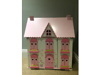 Early Learning Centre ELC Rosebud Cottage Wooden Dolls House