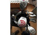 Men's Golf Club Set and Bag plus hybrid x 2