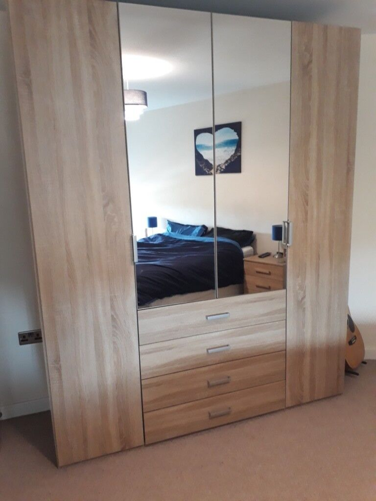 64c2ff9c2a38c Sonama oak wardrobe - less than 2 years old