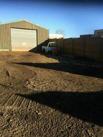 Unit and yard to let 30ft×45ft electric and water with toilet facilities £950 per month