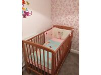Beautiful cot with mattress and accessories ( cot bumper)excellent condition only ever used once