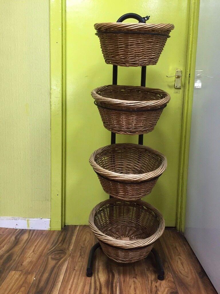 wicker stand basket