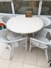 Shabby chic country table and chairs