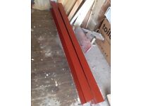 2 Steel I-Beams 152 x 89 x 1800mm red oxide painted