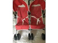 Silver cross DOLLS double pushchair/buggy