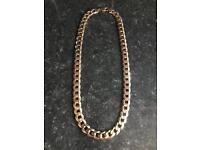 9CT SOLID GOLD CURB CHAIN 3 OUNCES