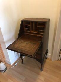 Antique walnut writing desk