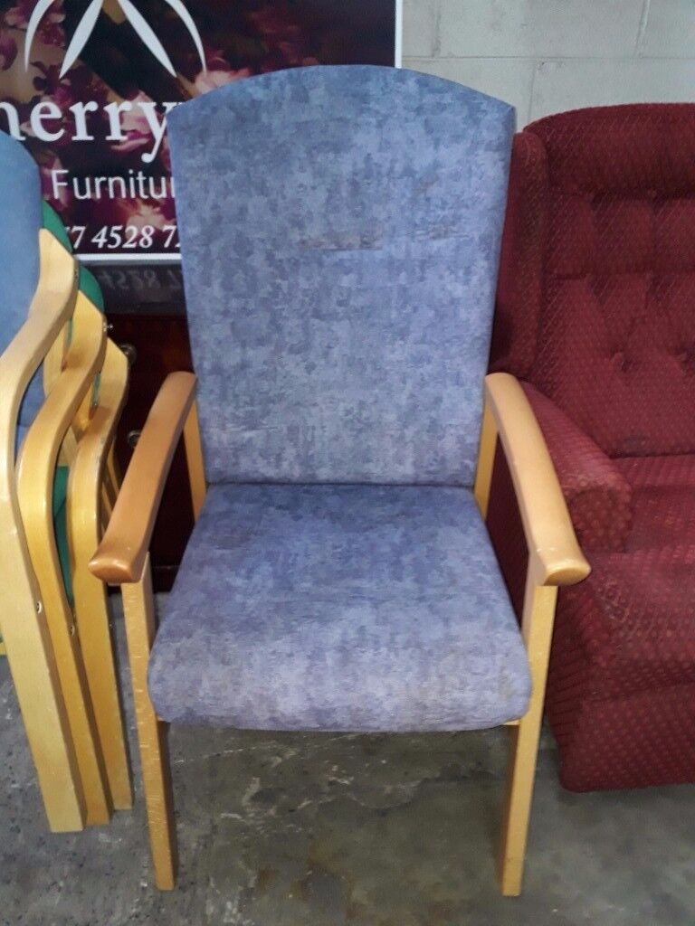 Very comfortable high back chair in excellent condition. Delivery can be arranged if required