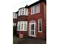 3 Bedroom Semi-Detached house to let in Chorlton. Whitemoss avenue