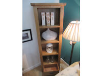 Brand New Ex display 1 Drawer Bookcase. Constructed from solid oak, veneers and pine Sideboard.