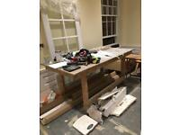 Large table and benches perfect for builders