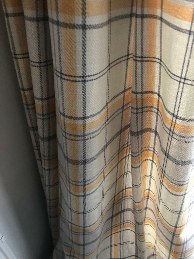 Mustard Curtains Like New Argos Bay Window In Plymouth Devon Gumtree