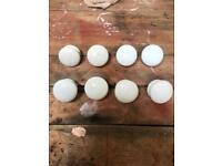 8 x large Victorian porcelain knobs