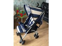 my babiie billie faier signature range mb01bs light weight stroller blue strips