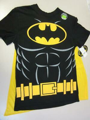 Superheroes In Black Costumes (Batman Halloween Costume T-Shirt with Cape Superhero Glow in the Dark)