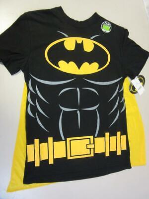 Batman Halloween Costume T-Shirt with Cape Superhero Glow in the Dark Small - Superheroes In Black Costumes