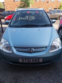 Honda Civic 1.6 , only 75000mileage, New MOT