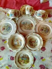 For sale 10 pieces of royal doulton bunnykins dinnerware