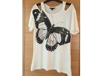 Three ladies assorted tops size 8