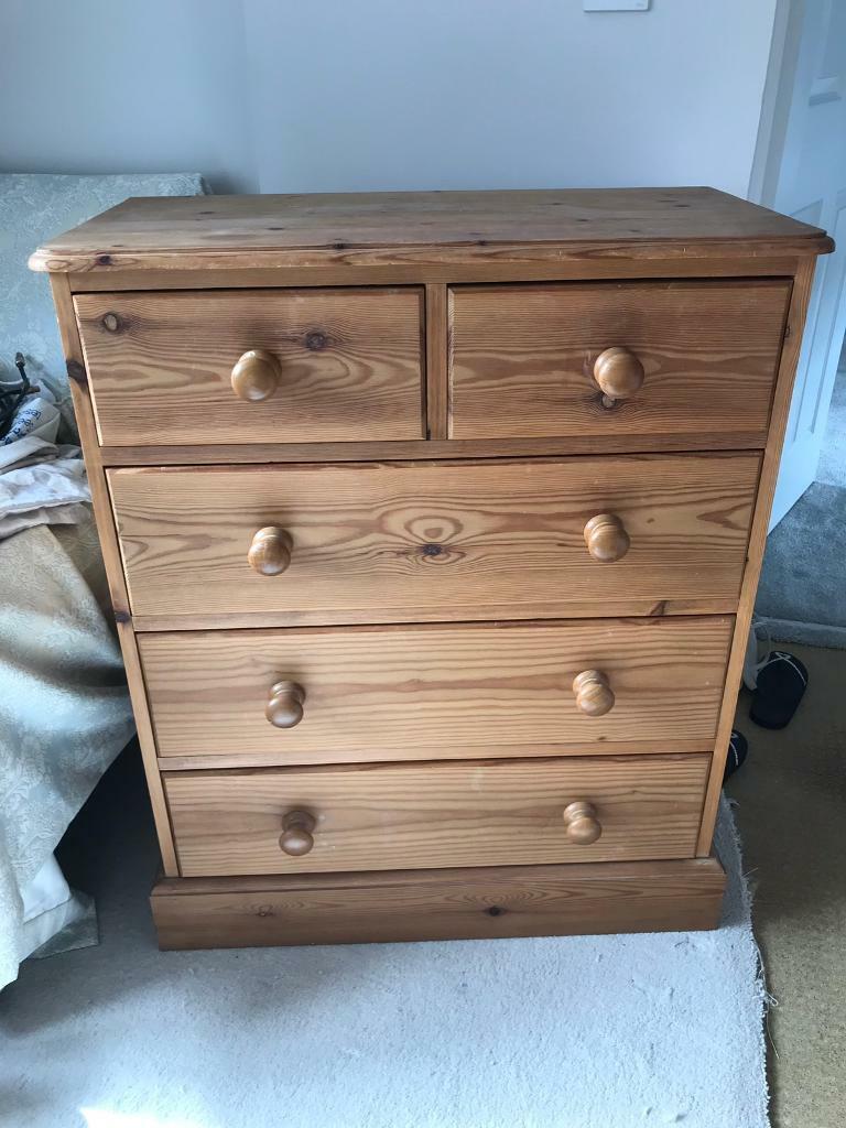 uk availability 26151 71410 Preloved Tall Pine chest of drawers | in Keynsham, Bristol | Gumtree