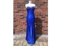 Royal Blue Diamonte Dress - 8 💙