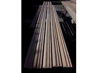 20 metres of decorative dado rail wood / timber