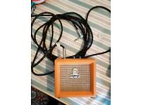 Orange Micro Crush 12v amp with 5m jack lead