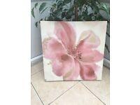 Canvas Art Glitter Flower Print