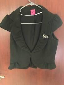 Black short sleeved jacket size 10