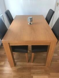 Next Dinning Table And Four Chairs
