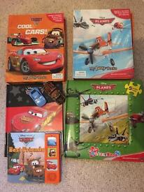 Cars and Planes Disney bundle, books, jigsaws, cars