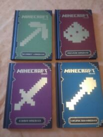 Minecraft Handbooks Immaculate Condition- Set of 4 - Beginners / Redstone / Construction and Combat