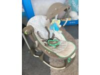 Baby seat swing