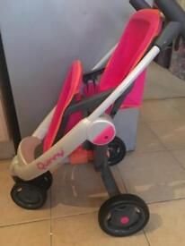 Quinny double dolls pushchair