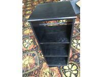 Black wooden rotating storage/display stand