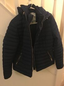 Tokyo Laundry Navy Puffer Jacket