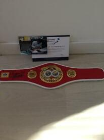 Signed manny pacquio belt with authenticity certificate