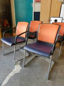 Top quality leather and suede chairs (set of four)