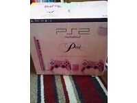 Pink ps2 and accessories