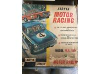 Vintage Airfix car racing game 60's/70's
