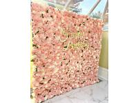 Flower wall & shimmer wall hire in london