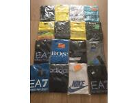 16 men's medium T-shirts Nike Armani Hugo Boss Adidas